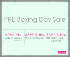 Pre-Boxing Day Sale www.AOneBeauty.com