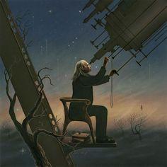The Astronomer by RainerKalwitz.deviantart.com on @DeviantArt