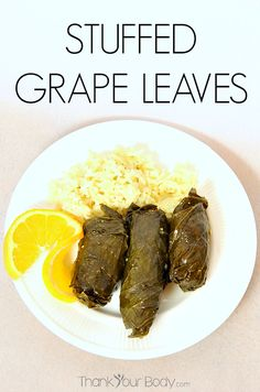 Delicious stuffed grape leaves with meat, pine nuts, currents, and savory Mediterranean spices. #grapeleaves #health #realfood #healthy #recipes