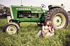 Tractor Engagement Photos