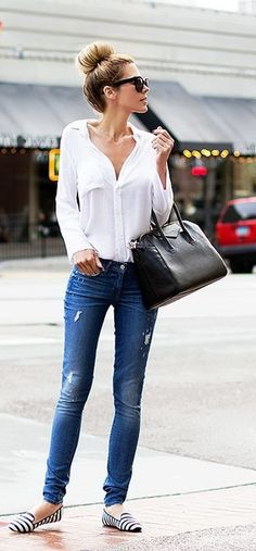 2015 Summer Button Down Shirts Street Style Trends (8)