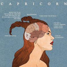 Capricorn Tattoo, Zodiac Signs Capricorn, Zodiac Sign Traits, Capricorn And Aquarius, Zodiac Art, Astrology Zodiac, Capricorn Element, Love Is Overrated, Capricorn Aesthetic