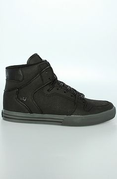 SUPRA The Vaider Sneaker in TUF Black Gunny : BrickHarbor.com - The World's Local Skateshop