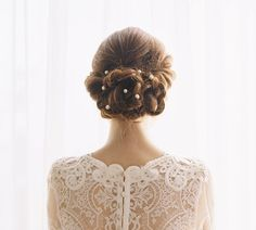 Wedding hair chain freshwater pearl wedding hair piece