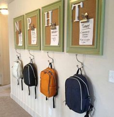 24 Back to School Organization Ideas - DIY Backpack Station