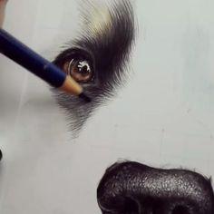 Colored Pencil Artwork, Pencil Art Drawings, Art Drawings Sketches, Cool Drawings, Drawings With Colored Pencils, Oil Painting Basics, Painting & Drawing, Animal Sketches, Animal Drawings