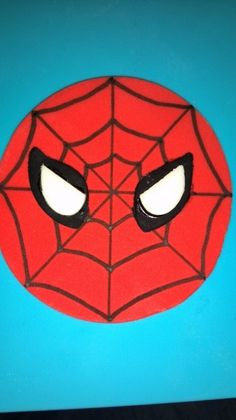Spiderman cupcake toppers, So cute & simple too!  Posted by angelgaby1243 at CakeCentral