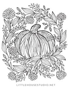 Pumpkin Coloring Pages for Adults Lovely 10 Free Autumn Adult Coloring Pages Fall Coloring Sheets, Pumpkin Coloring Pages, Thanksgiving Coloring Pages, Fall Coloring Pages, Adult Coloring Pages, Coloring Books, Halloween Activities, Halloween Art, Mandala Coloring