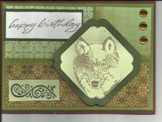 A masculine wolf birthday card by cardcapers on Etsy
