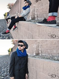 Bright Socks + Cuffed Skinny Jeans    Incognito (by Shawn C.) http://lookbook.nu/look/2830119-Incognito