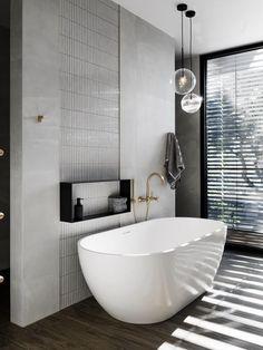 Our top 6 bathrooms from the 2018 Australian Interior Design Awards. Bathroom Windows, Bathroom Renos, Bathroom Flooring, White Bathroom, Bathroom Renovations, Kitchen Flooring, Master Bathroom, Bathroom Ideas, Wooden Flooring