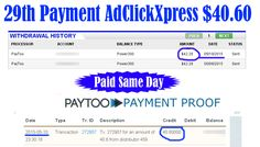 Ad Click Xpress is Paying 29th Payment $40.60 to PayToo	 Earn 4% daily: http://www.adclickxpress.com/?r=xSpueJXBJ6&p=mx