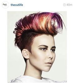 Loving this color and style. ..Funky