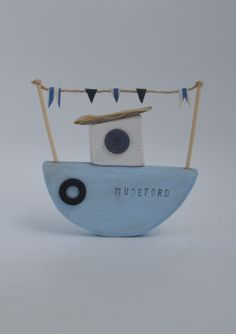 Handmade Tug boat by Upcycle art creations