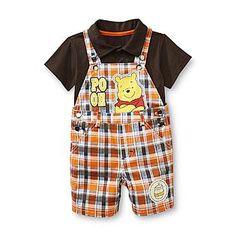 Disney Baby- -Disney Infant Boy's Polo Shirt & Shortalls - Winnie The Pooh