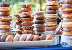 doughnuts!!!!!!!*we talked about these for wedding reception* instead of old carrot cake. Easy too****