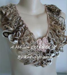MAGIC по вязанию крючком: чувственная Ожерелье