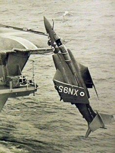 Oh what a waste! Off Plymouth Used as an RN training film to re-create an incident when a 'Bucc' rolled overboard from Ark Royal. Us Navy Aircraft, Ww2 Aircraft, Aircraft Carrier, Military Jets, Military Aircraft, Fighter Pilot, Fighter Jets, Blackburn Buccaneer, Aviation Accidents