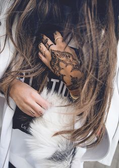 Bohemian Fashion with Henna Hands