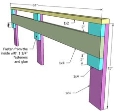 How to Build a Loft Bed Loft Bed Desk, Build A Loft Bed, Loft Bed Plans, Loft Bed Frame, Loft Plan, Bunk Bed Rail, Bed Rails, Bunk Beds, Bookcase Plans