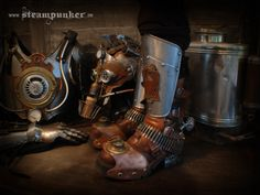 """work in progress, parts of my steamstrooper outfit...  If you like this work, please also visit my website and support my facebook-artis page with your """"like""""! You would make me happy! Thanks a lot... :)  http://steampunker.de http://facebook.com/steampunkartwork"""