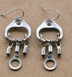 Upcycled pull tab earrings by Junksmith, via Flickr