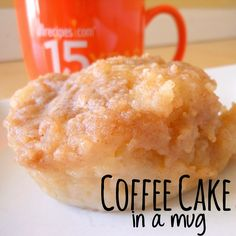 Sunny Days With My Loves - Adventures in Homemaking: Coffee Cake for One with applesauce Just Desserts, Delicious Desserts, Dessert Recipes, Yummy Food, Breakfast Recipes, Mug Recipes, Sweet Recipes, Cooking Recipes, Recipies