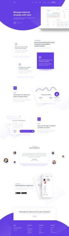 Saas product landing page Website Layout, Web Layout, Layout Design, Web Design Trends, App Design, Print Design, Design Ideas, Corporate Website, Creative Web Design