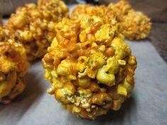 Two-ingredient cheddar popcorn balls -- taste just like Garrett's popcorn from Chicago!
