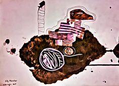 City Monster. Digital version. от zadumki на Etsy