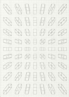 Perspective blocks on grid paper Perspective Drawing Lessons, Perspective Art, Perspective Illustrator, Three Point Perspective, Graph Paper Art, Graph Paper Drawings, Technical Drawing, Drawing Techniques, Geometric Art