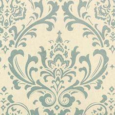 Premier Prints Traditions Village Blue Natural Damask Home Decorating Fabric - Texas Susannie's