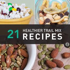 21 Healthier Trail Mix Recipes to Make Yourself via #greatist