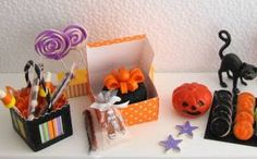 "The Fabulous Farmhouse 1/12"" Scale Miniature Dollhouse Halloween Goodies"