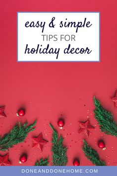 Do you find the holiday season stressful and just want holiday decor to be easy?  Read this blog post our favorite easy holiday decorating tips for Christmas decor or Hanukkah decor.  #christmasdecor #holidaydecor #hanukkahdecor #holidaydecorations Christmas Dishes, Christmas Baking, Christmas Table Settings, Christmas Decorations, Holiday Decorating, Decorating Tips, Holiday Gift Guide, Holiday Gifts, Santa Mugs