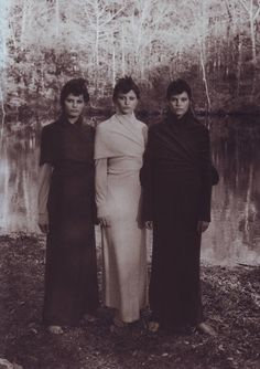 """Country report"". Isabeli Fontana, Noot Seear and May Andersen by Peter Lindbergh for Vogue Italia November 1999"