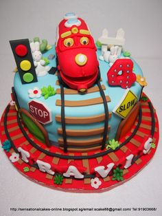 Chuggington Trains 2 Edible Birthday Cake Topper OR Cupcake Topper