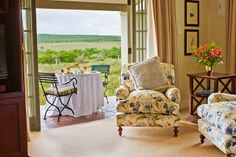 One of eight luxury suites at 5 Star lodge, River Bend Lodge, Addo Elephant National Park, South Africa. Luxury Suites, Lodges, South Africa, National Parks, Elephant, Patio, River, Marketing, Star