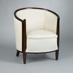 Chair; tub chair Design attributed to Etienne Kohlmann Designed c. 1924 Art Deco Paris, Île-de-France, France