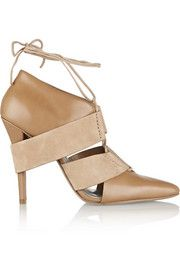 Alexander WangMila leather and suede pumps