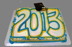 Grad Year Sheet Cake with Hat (Available in any Graduation Class) Product Image