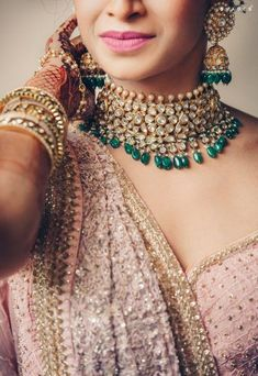 A Drop-Dead Gorgeous Goa Wedding With A Bride In A Uniquely Hued Lehenga! Goa Wedding, Indian Wedding Gowns, Indian Bridal Fashion, Handmade Wedding Jewellery, Indian Wedding Jewelry, Celebrity Casual Outfits, Bridal Accessories, Bridal Jewelry Sets, Jewelry Accessories