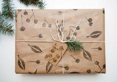 How-To: Potato Stamp Gift Wrap!