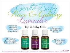 Information about using essential oils with babies #aromatherapy