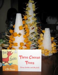 Dr. Seuss party food: Three cheese trees (Fox in Socks)