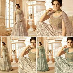 Anarkali Salwar Suit Indian Stylish Net Embroidered Party Wear Anarkali Suit RKT