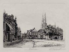 Eindhoven market place left, Carel Jan van  Rijsewijk