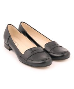 2ab94d27bc8 Take a look at this ZAPATO Black Leather Penny Loafer today! Soft Leather