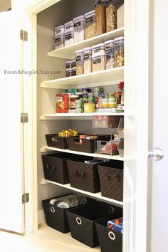 Pantry Organization - actual blog post here: http://www.fromapurplechair.com/2013/11/pantry-organization.html?m=1