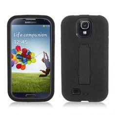 Samsung Galaxy S IV Black Hybrid Case With Stand